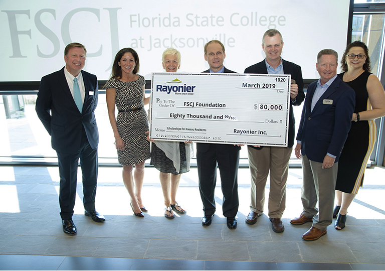 Rayonier, Inc. Expands Partnership with FSCJ